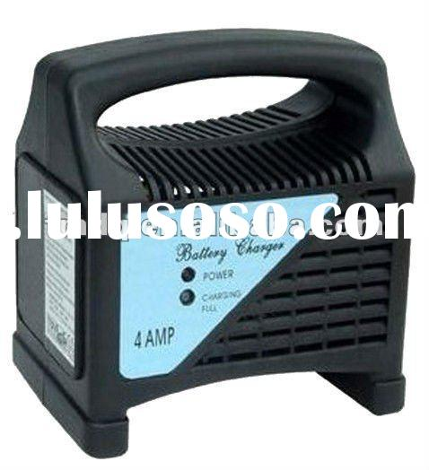 4amp 6amp portable battery charger / vehicle battery charger