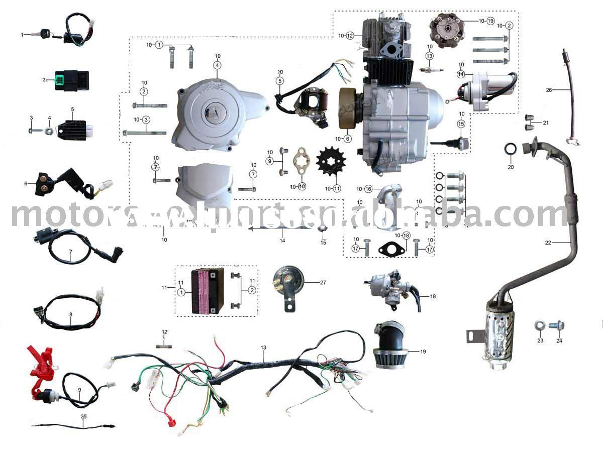 Wholesale Zongshen 50cc Electric likewise 301981223368 in addition Taotao Atv Engine Diagram in addition Deca Directv Swm Splitter 4 Way Wiring Diagram in addition 125cc Atv Engine Parts Furthermore Chinese Wiring Harness. on zongshen wiring harness