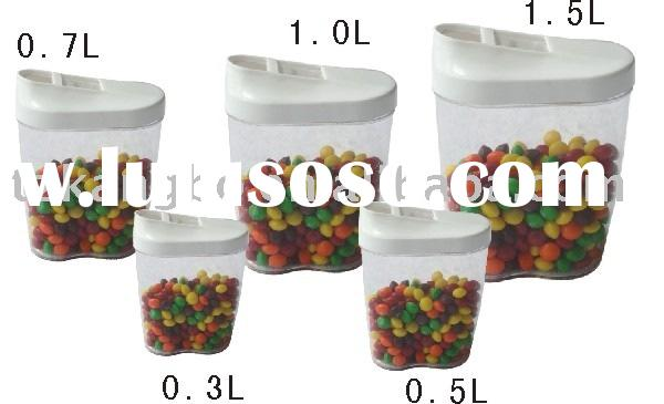 5PCS storage box, storage container, plastic box, bean container,kitchenware