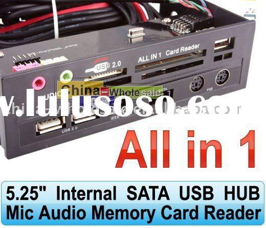 5.25 Internal SATA USB HUB Mic Audio Memory Card Reader