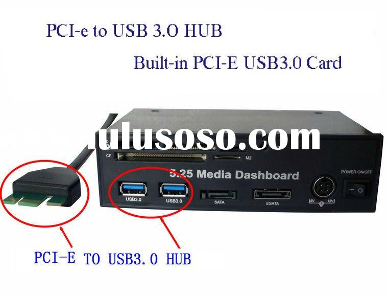 5.25 Media Board PCI-e to USB 3.0 HUB and USB2.0 All-in-one card reader with SATA AND ESATA Slot