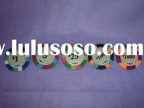 AU-PC-N1001 Paulson style chip,casino game chips,poker chips,promotion chips,clay poker chips,
