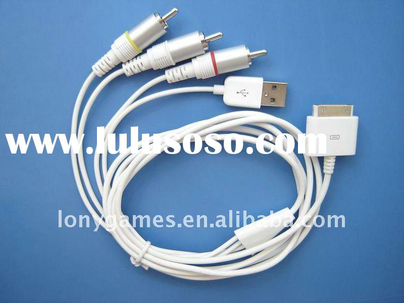 AV TV RCA USB Video Cable for iPhone 3G iPod Touch Nano