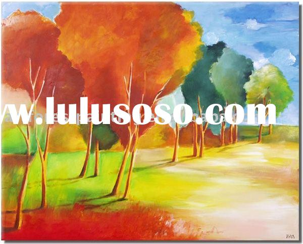 Abstract Landscape painting(abstract oil painting,modern art painting)