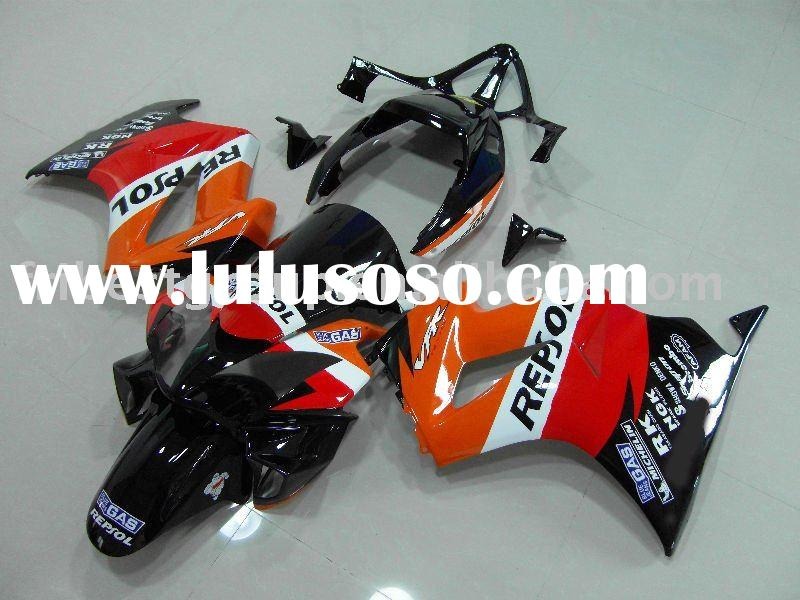 Aftermarket complete set motorcycle fairings body work cowling for VFR800-VTEC 2002-2008 REPSOL