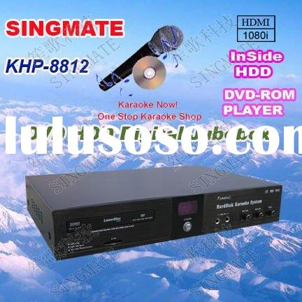 All-in-one KTV/VOD/DVD HDD Karaoke product with HDMI ,Support VOB/DAT/AVI/MPG/CDG/MP3+G songs ,MIC E
