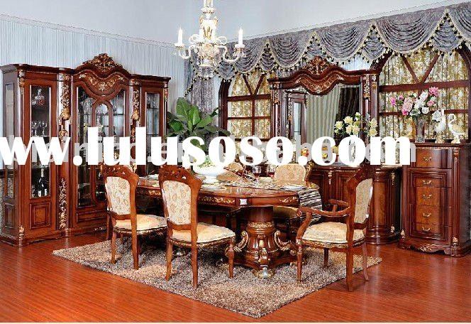 American style luxury villa home furniture set | Solid wood villa dining room furniture B49134