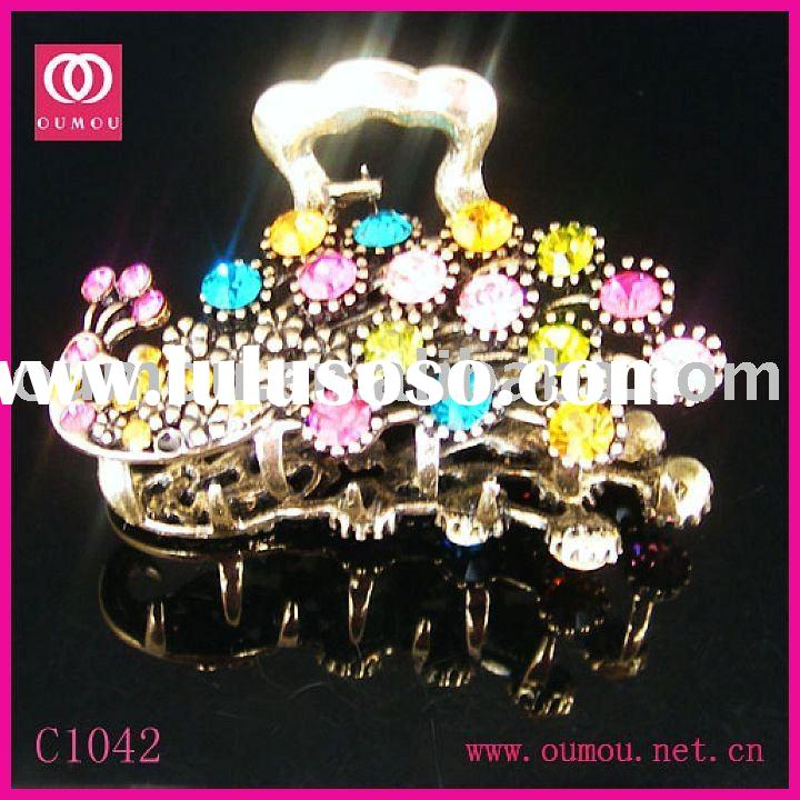 Animal Print And Fashion Rhinestones Hair Claw Jewelry
