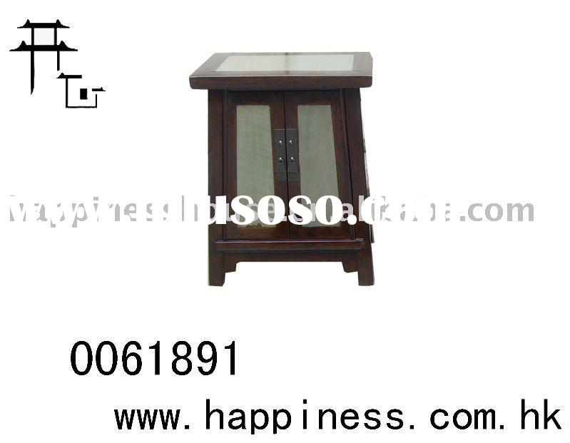 Antique chinese replica wooden end table
