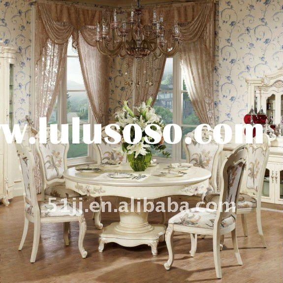 Royal Luxury White Dining Room Furniture EA003 For Sale
