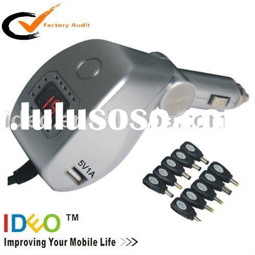 Automatic Universal car charger for laptop/netbook (70W/90W Max)