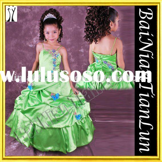 Baby Doll-like Embroidered Ruffle Flower Girl Dress