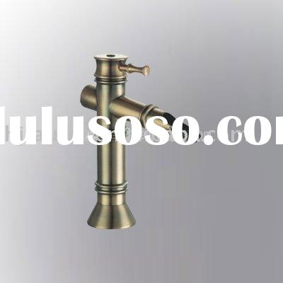 Bamboo Antique brass vessel sink faucets ,bathroom basin washbasin mixer taps