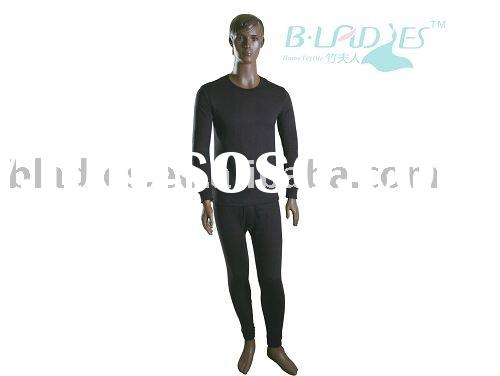 Bamboo fiber clothes Men's thermal wear Breathable Soft and Warmth