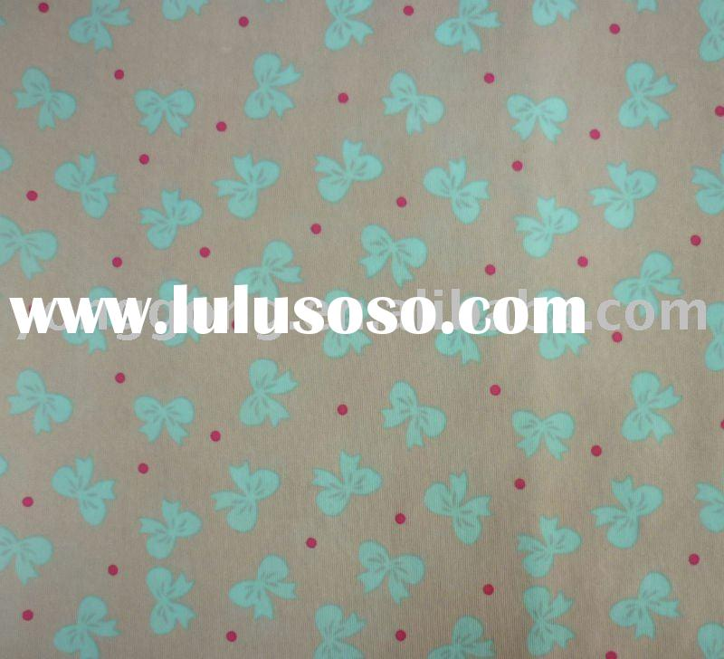 Bow Printed Polymaid Lycra Stretch Fabric