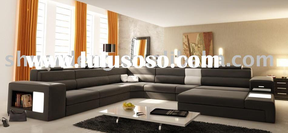 Buff soft leather sofa