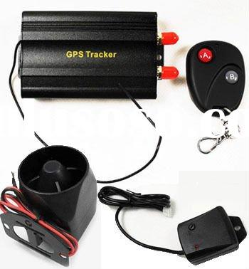 Car GPS tracking device with location address on server and sms tracking