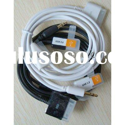 Car audio Aux 3.5mm USB cable for ipod (IPCA--040)