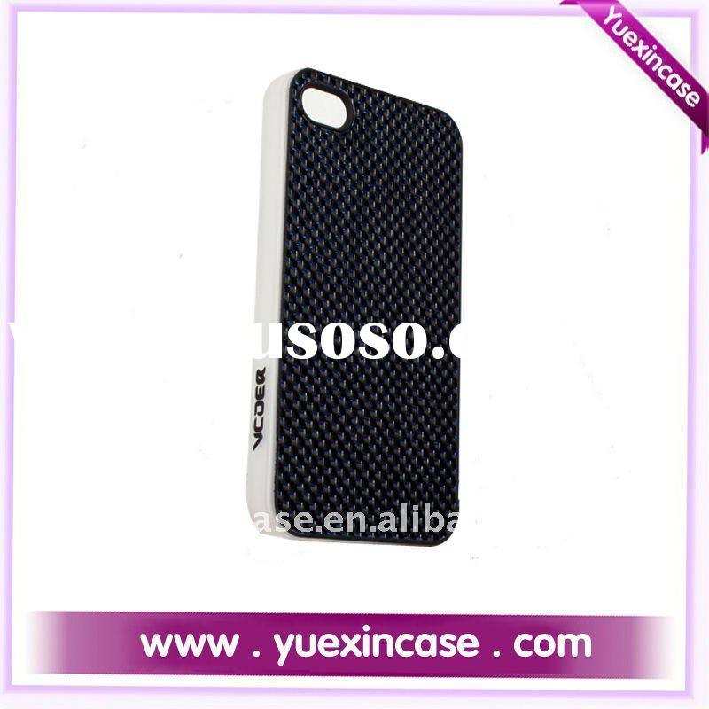 Carbon fiber hard case/cover/skin for iphone 4 --screen film free including