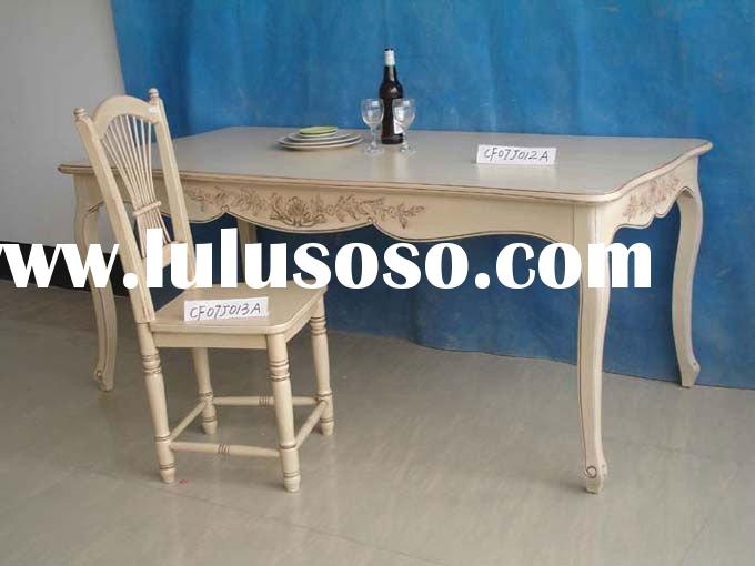 Carved European Countryside Style Dinner table and Chair