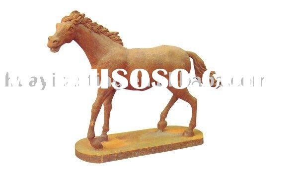 Cast Iron Horse & animal &stone statue