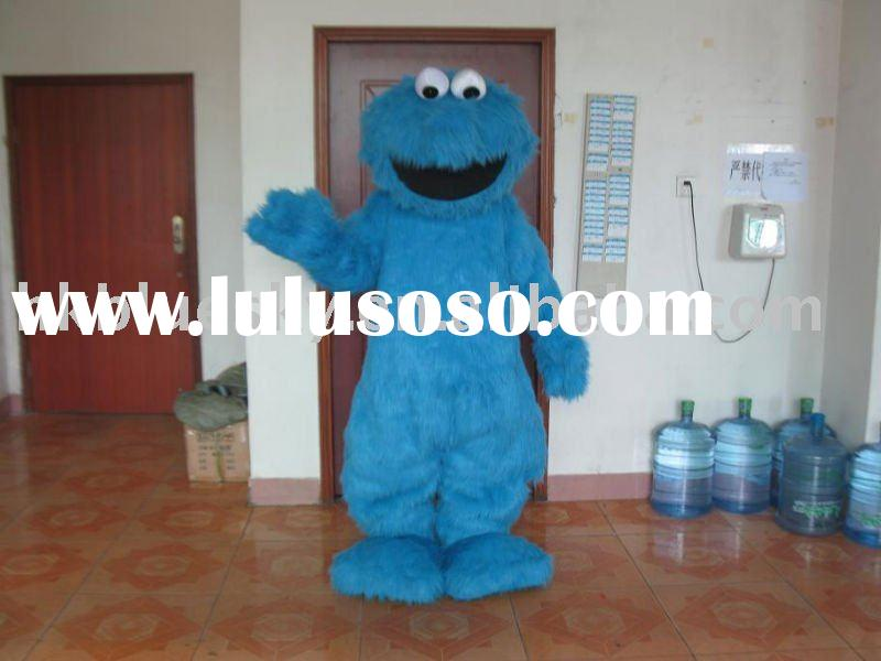 Character cookie monster mascot costume
