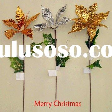 Cheap Plastic Artificial Flowers for Christmas Ornaments