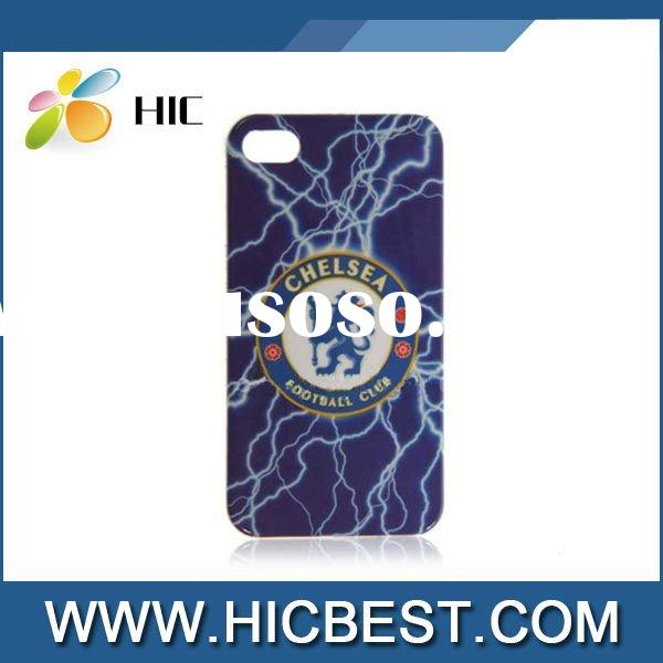 Chelsea Football Club Lightning Pattern Hard Plastic Case for iPhone 4