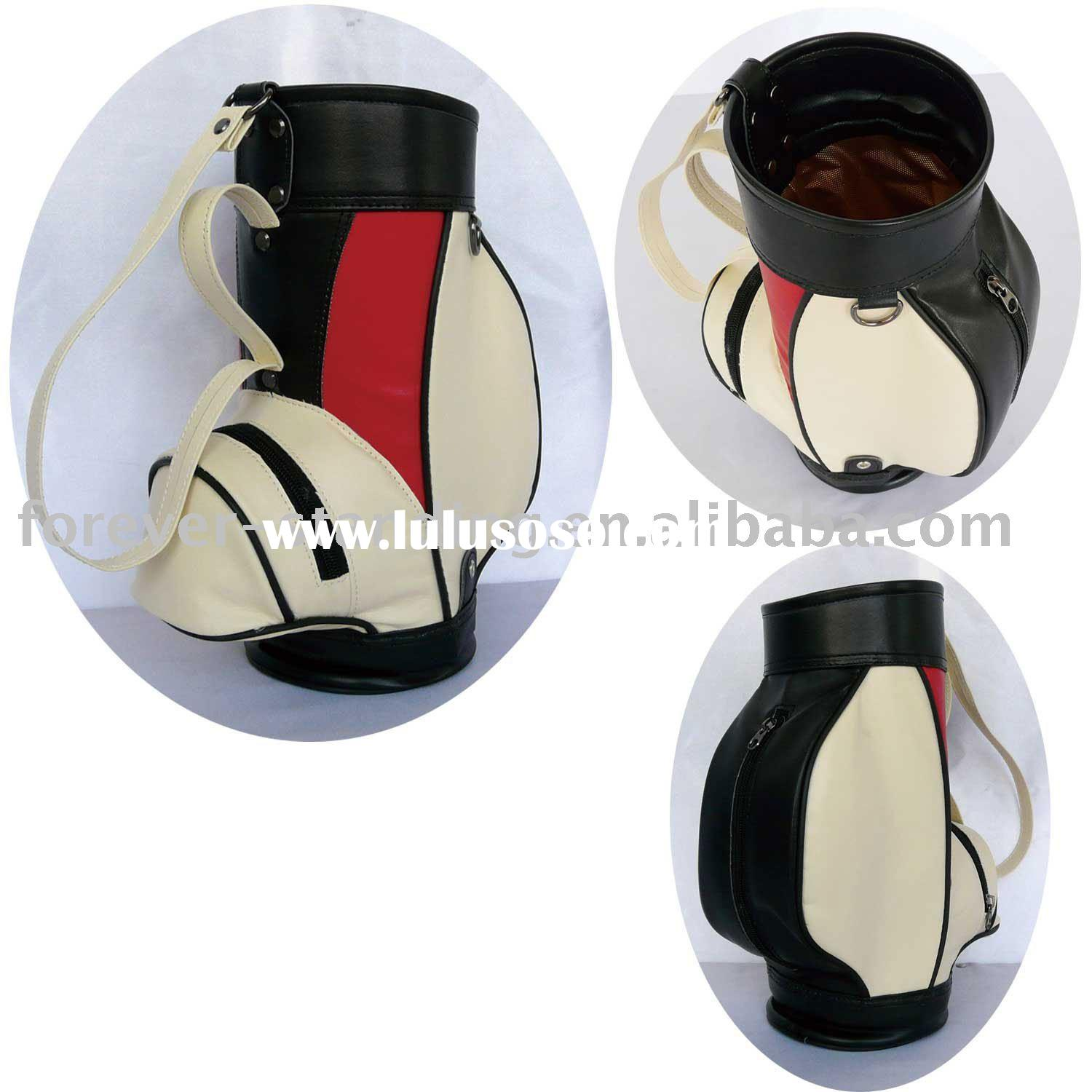 China factory sell Golf bag shaped Wine tote