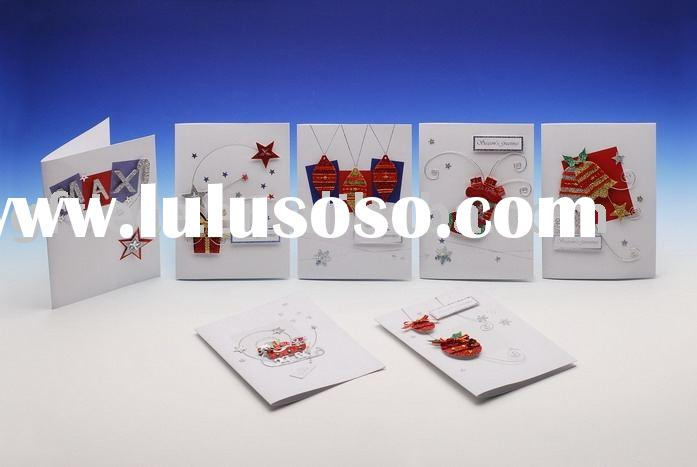 Christmas card/ handmade greeting card / handmade printed card / handmade paper card manufacture sup
