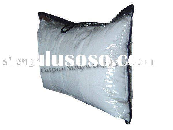 Clear PVC plastic packing bag for pillow