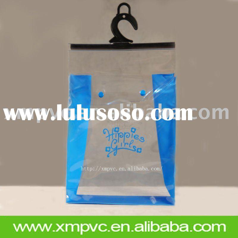 Clear garment packing bag with hanger