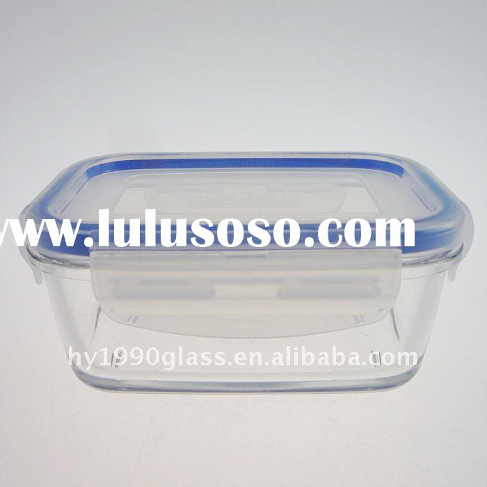Clear glass bowl with lids/BSB450-400