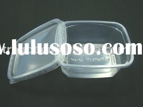 Clear plastic salad container with lid