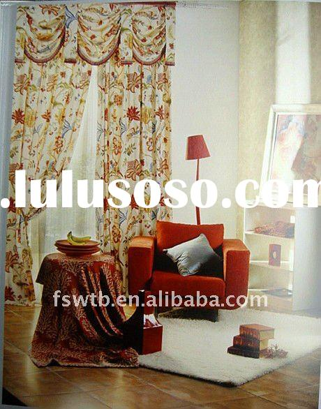 Country Style Curtain,2012 new design top grade curtain fabric!