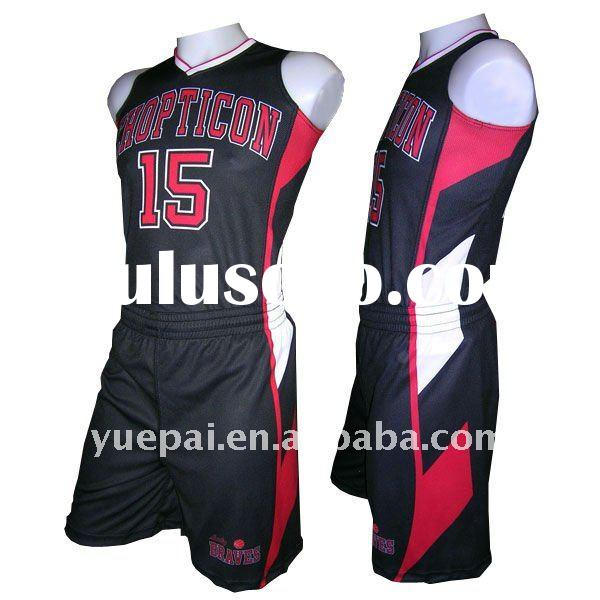 Custom Design Basketball Uniforms with Sublimaiton Printing