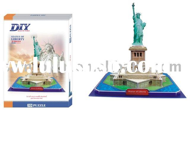DIY STATUE OF LIBERTY(toy,educational toy,children toy,intelligent toy,diy toy,paper toy,puzzle game