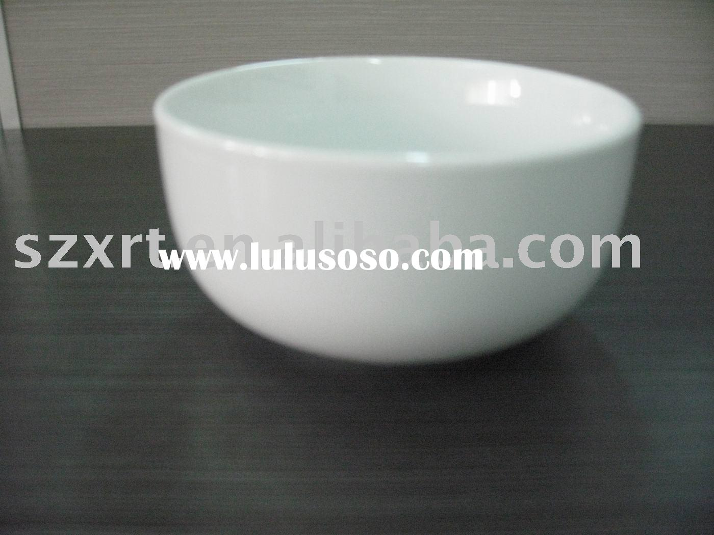 Daily-use simple white porcelain rice bowl