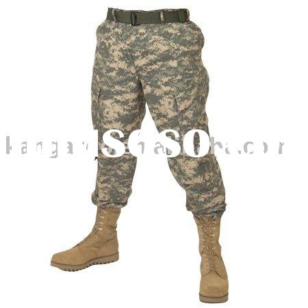 Desert digital camouflage zipper fly military and army ACU pants and trousers