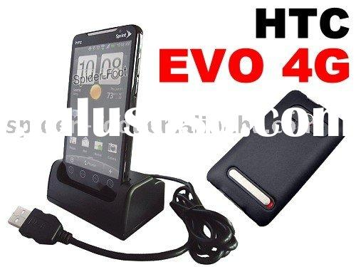 Desktop USB HotSync Dock Cradle Charger + Back Cover for Sprint HTC EVO 4G