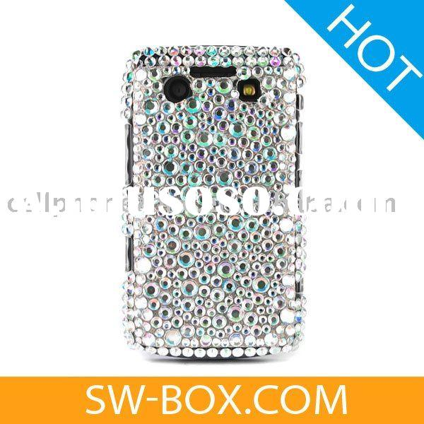 Diamond Rhinestone Bling Hard Case Cover For BlackBerry Bold 9700 9020 Onyx - Silver /rhinestone cel
