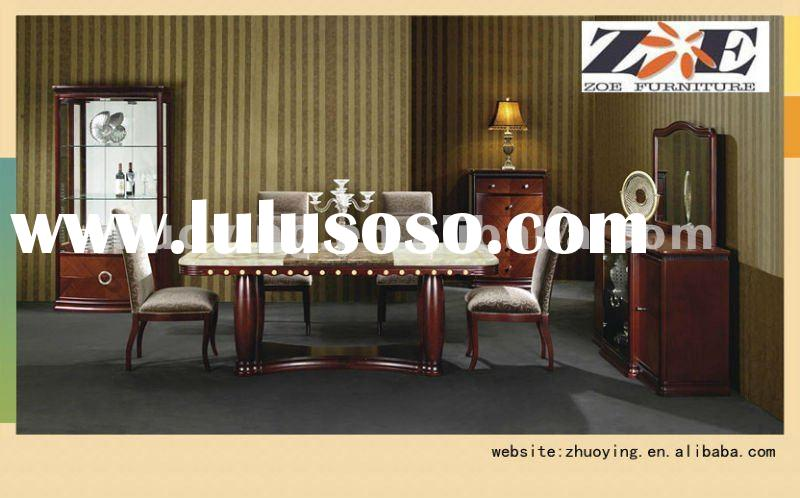 Dining chair and table of wooden dining room set