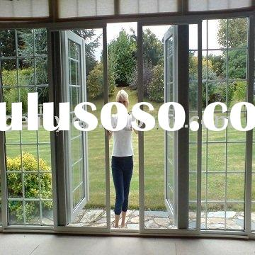 French doors exterior for sale price china manufacturer for Double sliding screen door