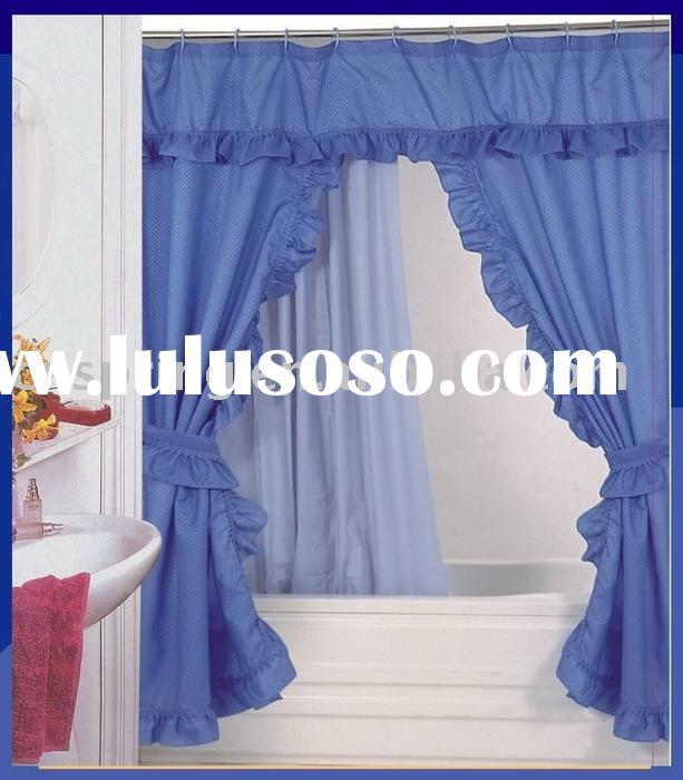 Double Swag shower curtain set