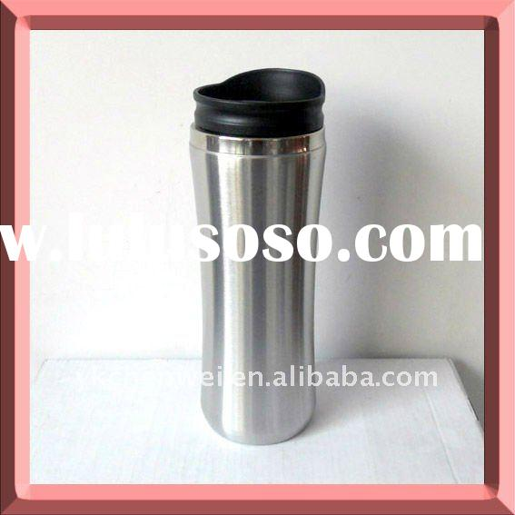 Double wall stainless steel travel tumbler