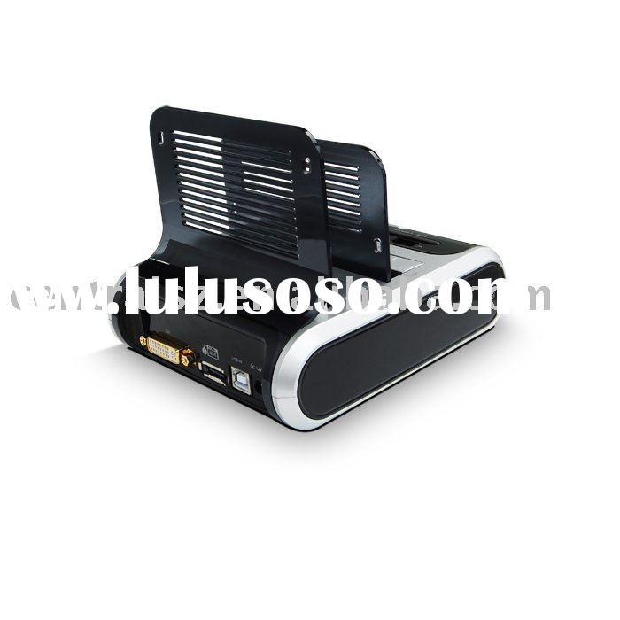 Dual HDD Docking w/Sim/Flash Card Reader/USB Hub