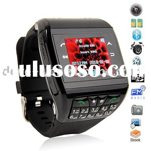 Dual SIM Camera Watch Phone with Keypad + 8 Colors Changeableness