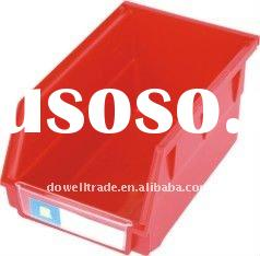 Durable plastic spare parts bin