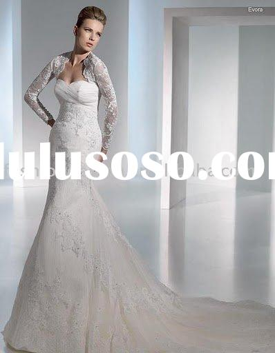 EW526 fashion long sleeves lace wedding dress