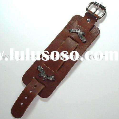 Eagle leather cuff watch band series